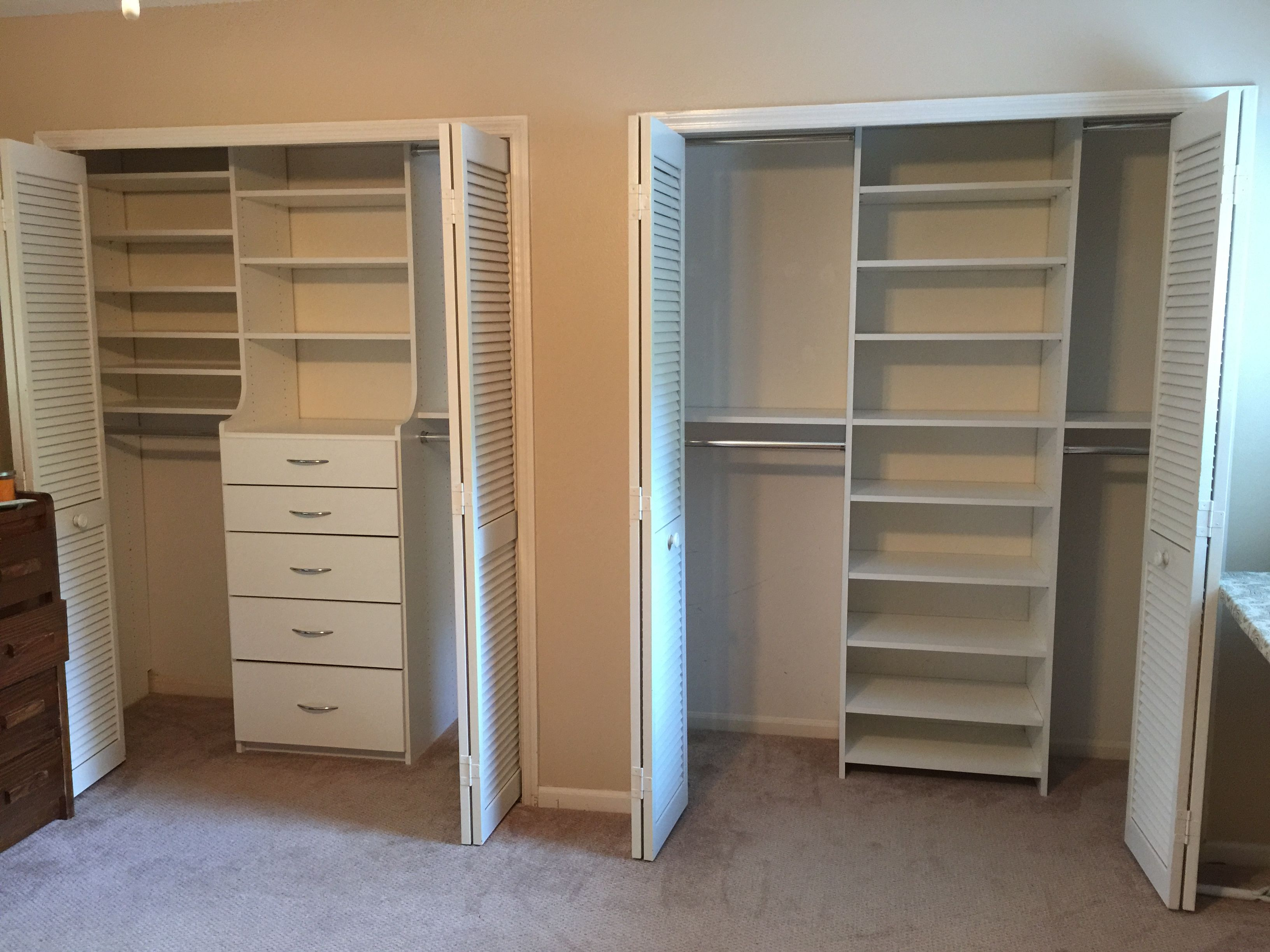 units elegant workbench closets shelves depot twin shelving enclosed cabinets home of cities california closet astonishing storage unit garage