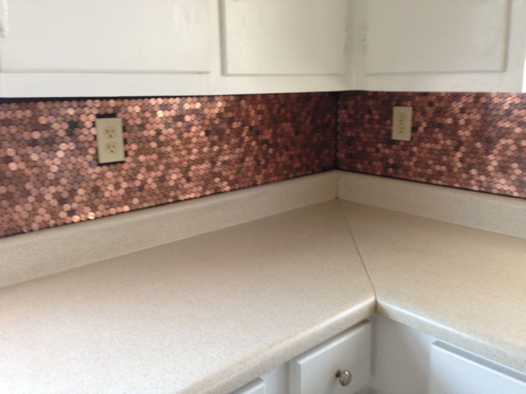 Our Penny Back Splash All 2,380 Of Them We Used