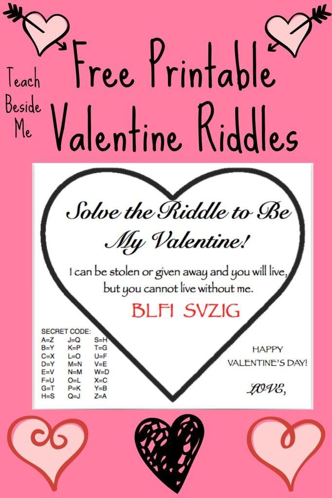 free printable valentine riddle cards kid blogger network activities crafts valentine. Black Bedroom Furniture Sets. Home Design Ideas