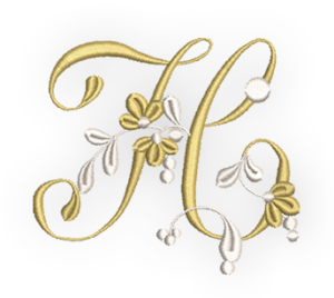 Collect The Golden Embroidery Alphabet Today We Have Letter H For Free Embroidery Alphabet Lettering Alphabet Fabric Letters