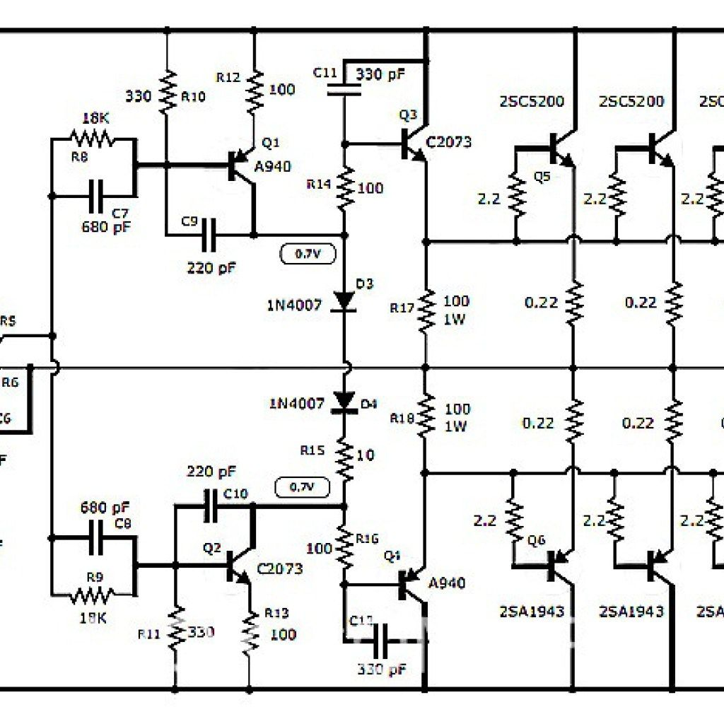 5000 watts power amplifier circuit diagram difficult origami 1000w using transistor wiring library