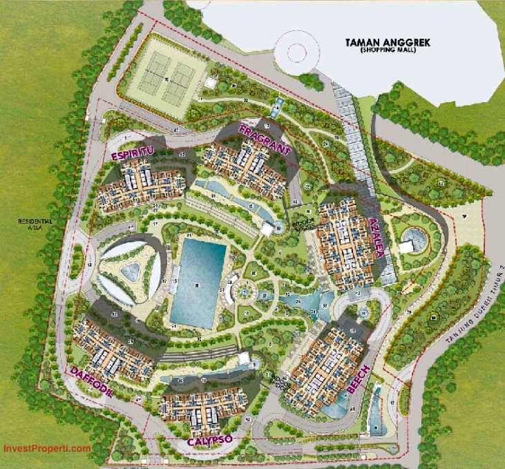Site Plan Taman Anggrek Residence Jakarta
