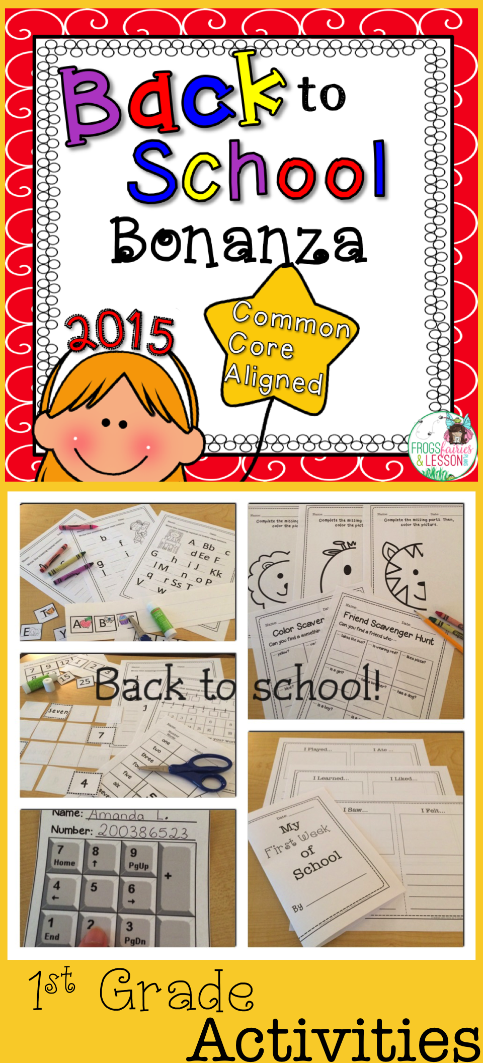 Back to school activities! Review CCSS and have fun at the same time with these 30 activities. Great variety!