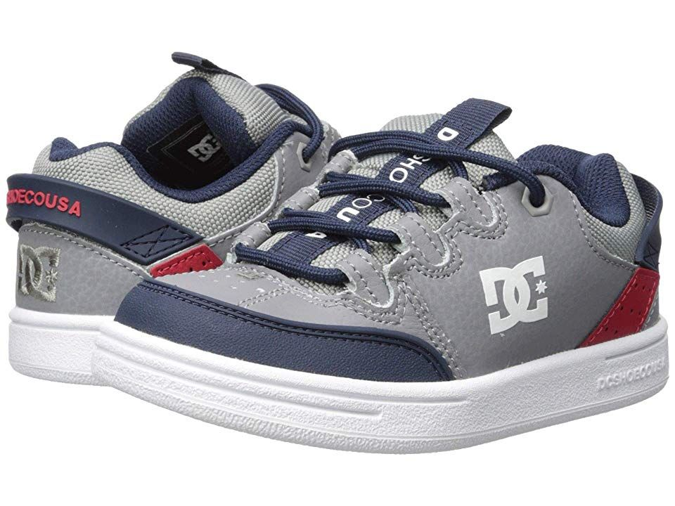 9aeebebd83e DC Kids Syntax (Little Kid Big Kid) (Grey Red White) Boys Shoes ...