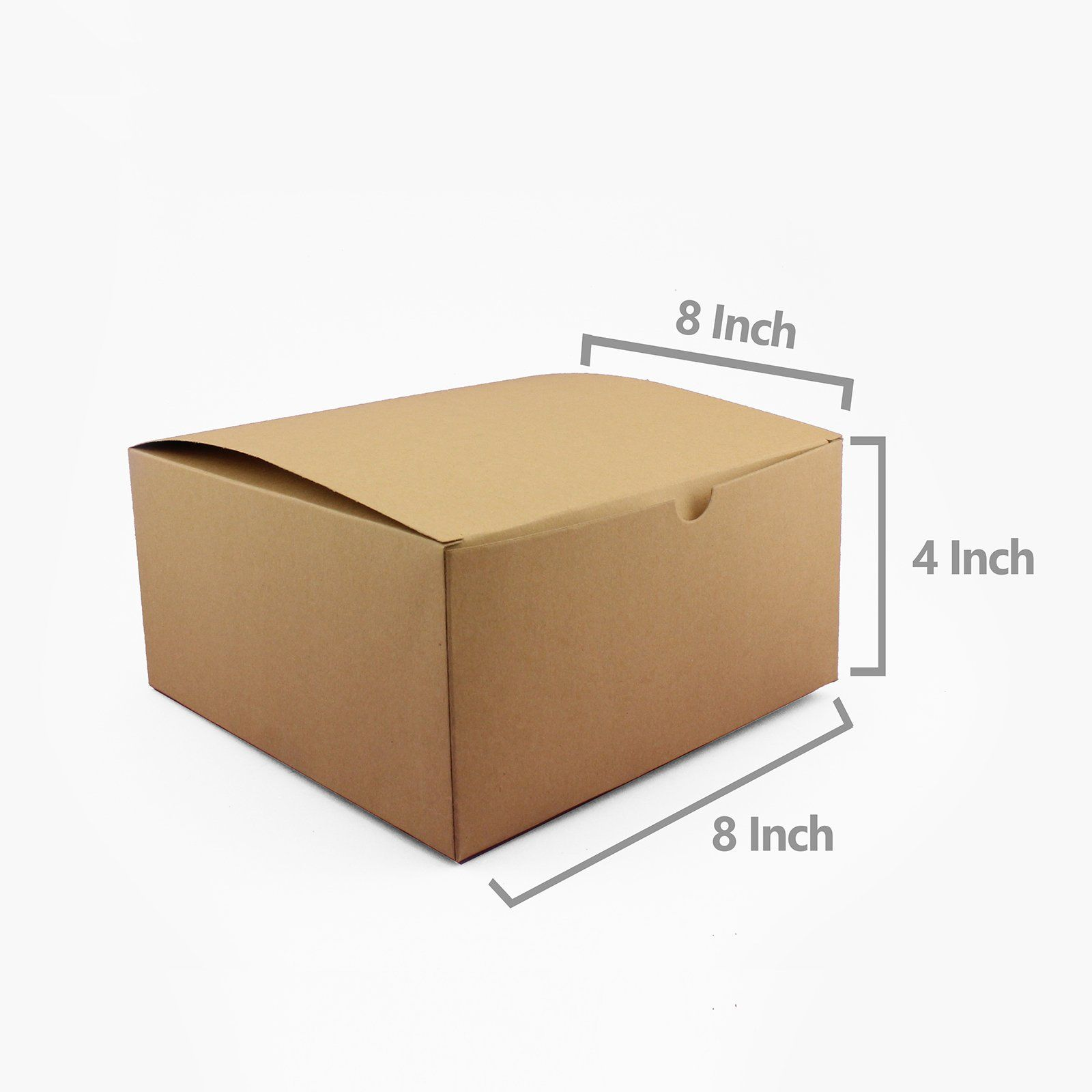 Adorox 10 Pack 8 X 8 X 4 Inches Kraft Boxes Cardboard Gift Box With Lids For Wedding Birthday Candy Gift Box Gift Boxes With Lids Baby Shower Party Decorations