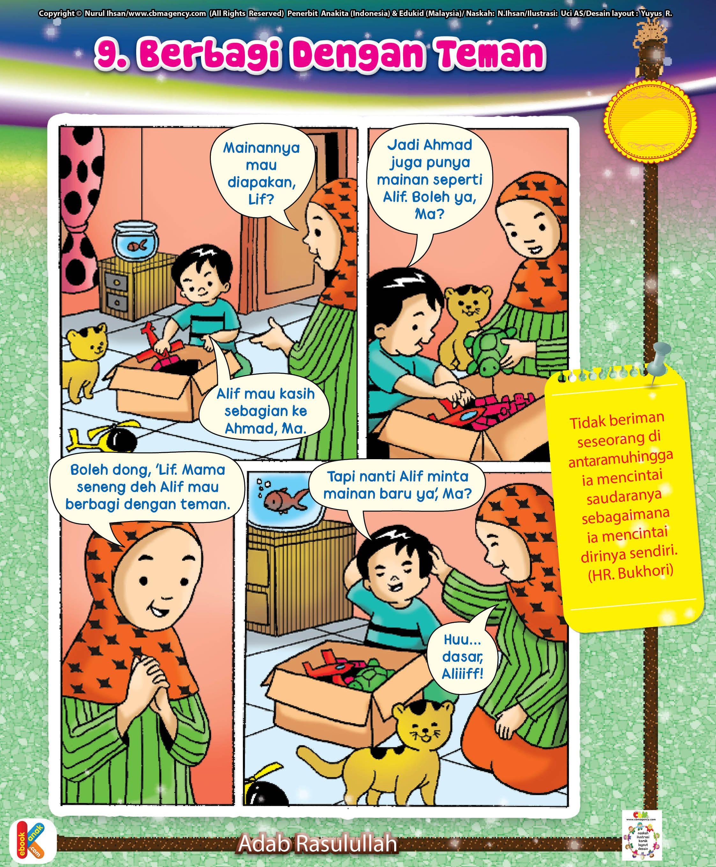 Komik Adab Berbagi Dengan Teman Ebook Anak Komik Anak Komik Buku Bayi