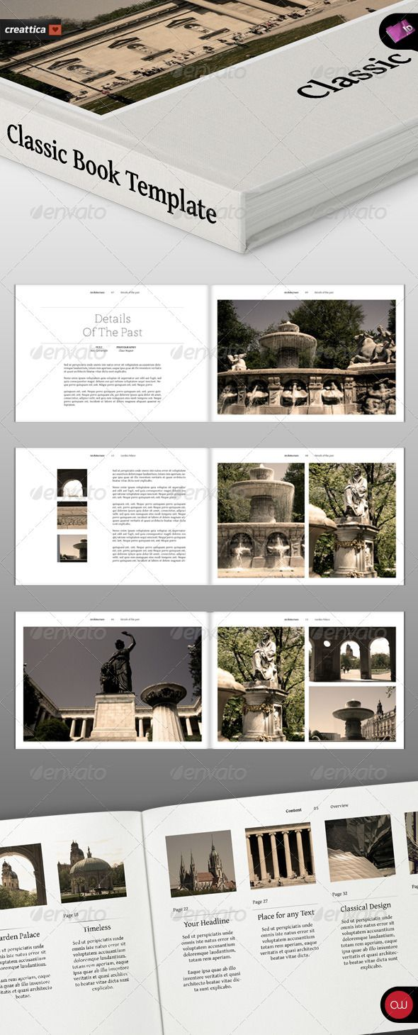 Landscape Brochure Classic Series Photobook Layout Book Design Layout Book Layout