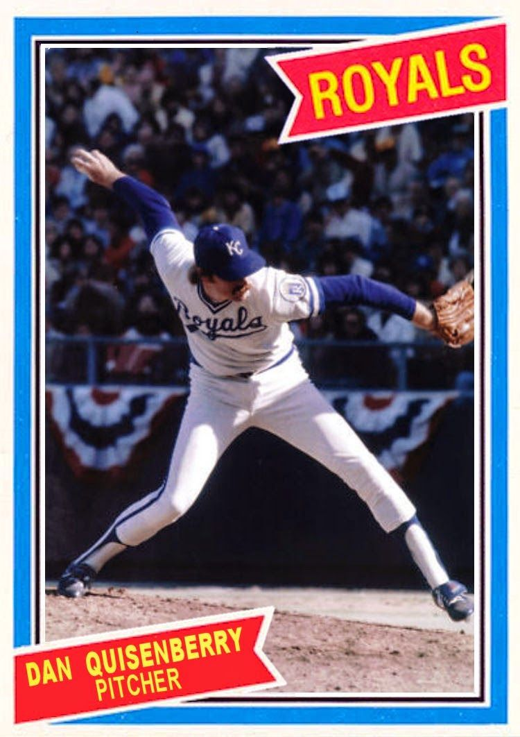 1980 Donruss Dan Quisenberry Minnesota Twins Baseball Kansas City Royals Baseball Kansas City Royals