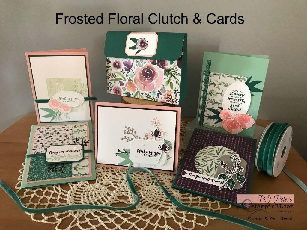 frosted floral clutch cards 2018 2019 stampin 39 up. Black Bedroom Furniture Sets. Home Design Ideas
