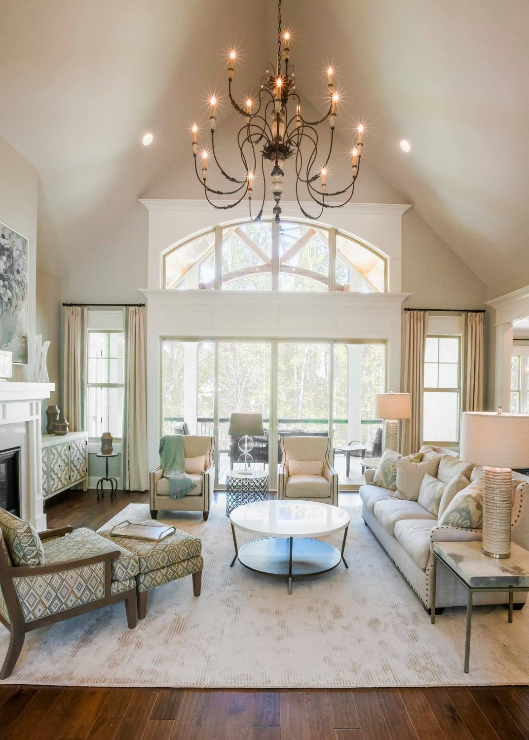 Living Room at 1030 Carnoustie Drive Model Home - Harbor Club on ...