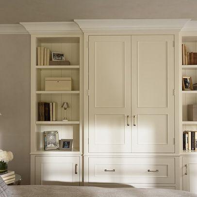 master bedroom built in niche | bedroom built-in media cabinet