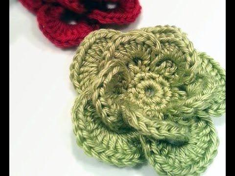 Free Crochet Flower Patterns Tutorials : Free Crochet Flower Pattern and Video Tutorial Videos ...