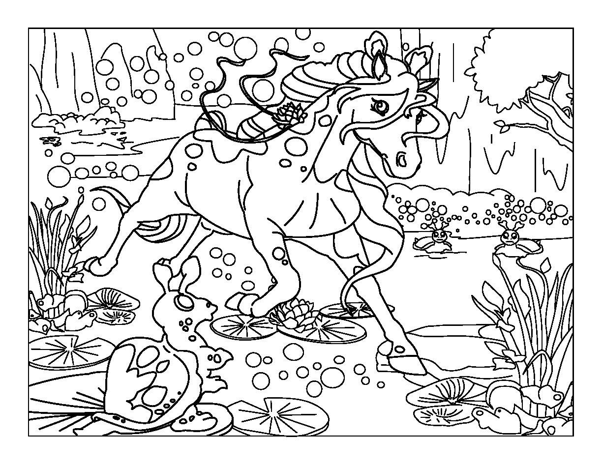 Coloriage à imprimer : Personnages féeriques - Licorne ...