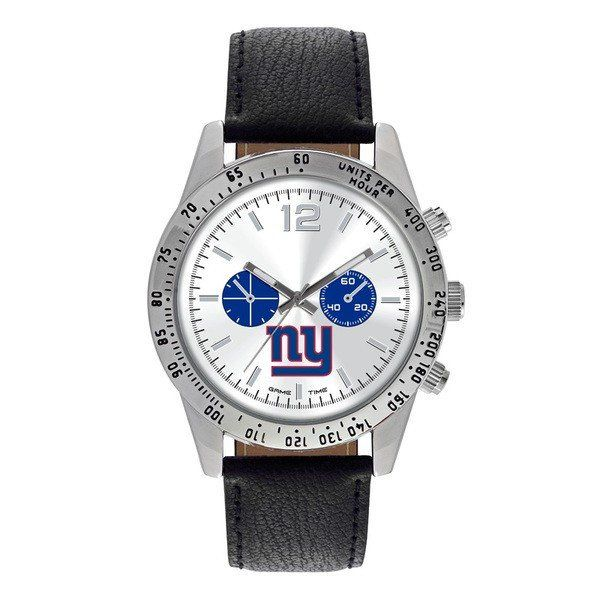 New York Giants Letterman Leather Watch