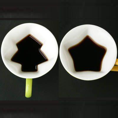 cool top view shape mugs