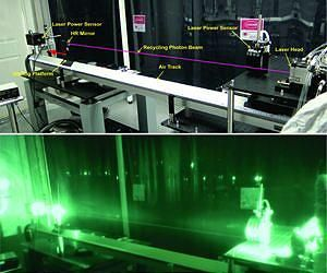 Photonic Laser Thruster Propels Simulated Spacecraft