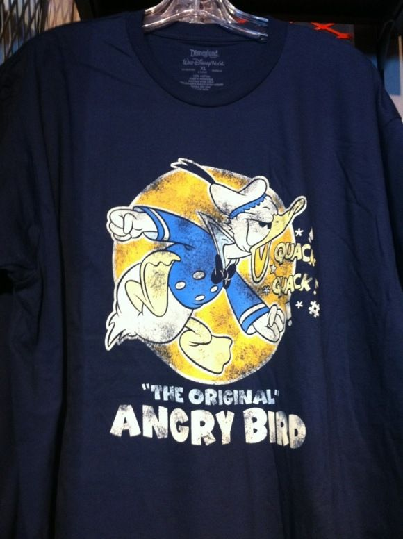 b1e22cd689 The original 'Angry Bird' - Donald Duck tshirt | Disney Art | Disney ...