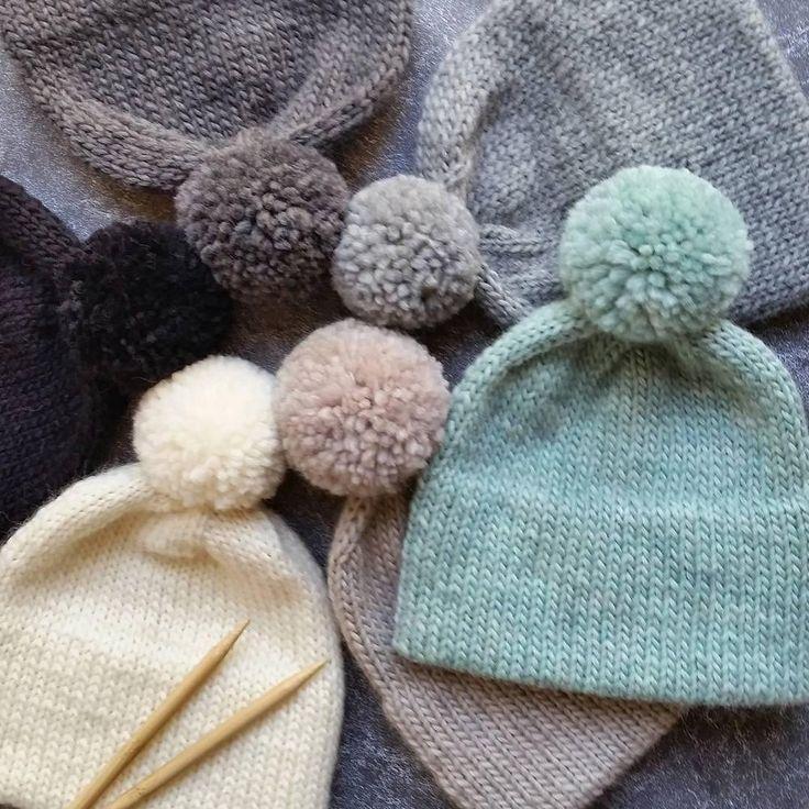 Double Brim Knit Pom Pom Hat | Gorros, Tejido y Tejidos bebe