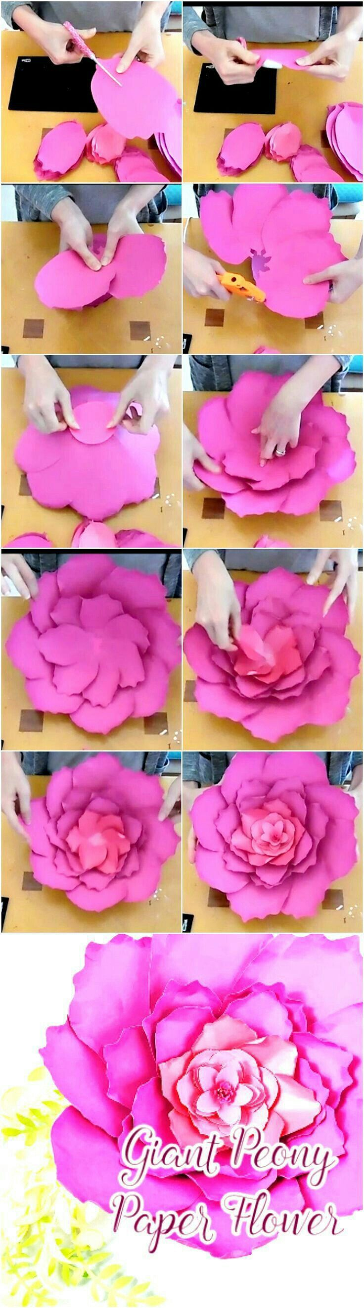 Pin By Kay Smith On Paper Flower Tutorials Pinterest Paper