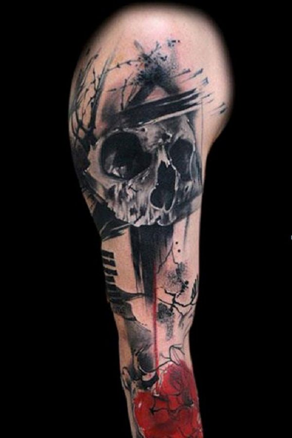 80 frightening and meaningful skull tattoos tatouages et for Generation 8 tattoo