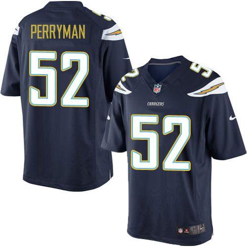 Men's San Diego Chargers #52 Denzel Perryman Navy Blue Team Color NFL Nike Elite Jersey
