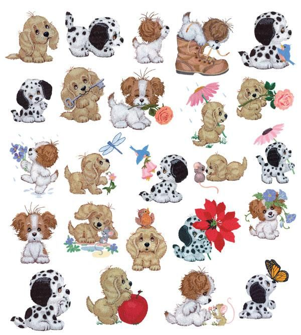 CUTE ANIMALS COLLECTION MACHINE EMBROIDERY DESIGNS ON CD OR USB