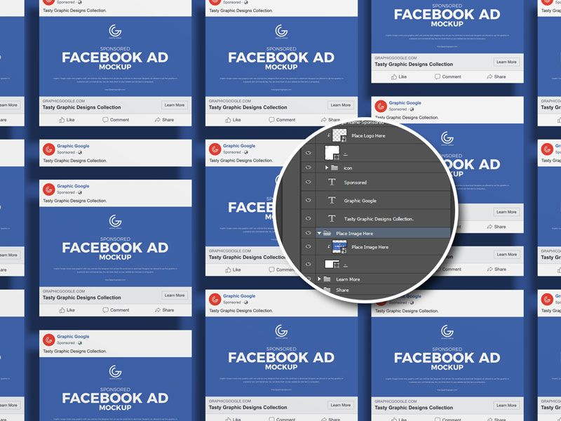 Free Sponsored Facebook Ad Mockup Graphic Google Tasty Graphic Designs Collectiongraphic Google Tasty Graphic Desig Facebook Ad Mockup Facebook Ad Mockup