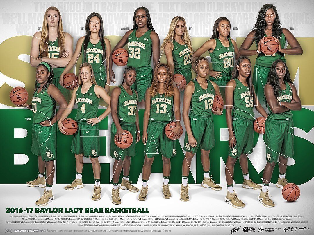 2016 17 Baylor Women S Basketball Poster Baylor Basketball Womens Basketball Logo Basketball
