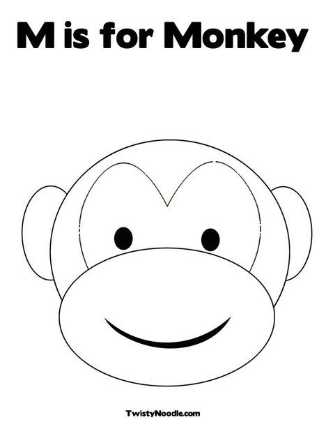 Monkey face pattern google search plant animal pages for Monkey face template for cake