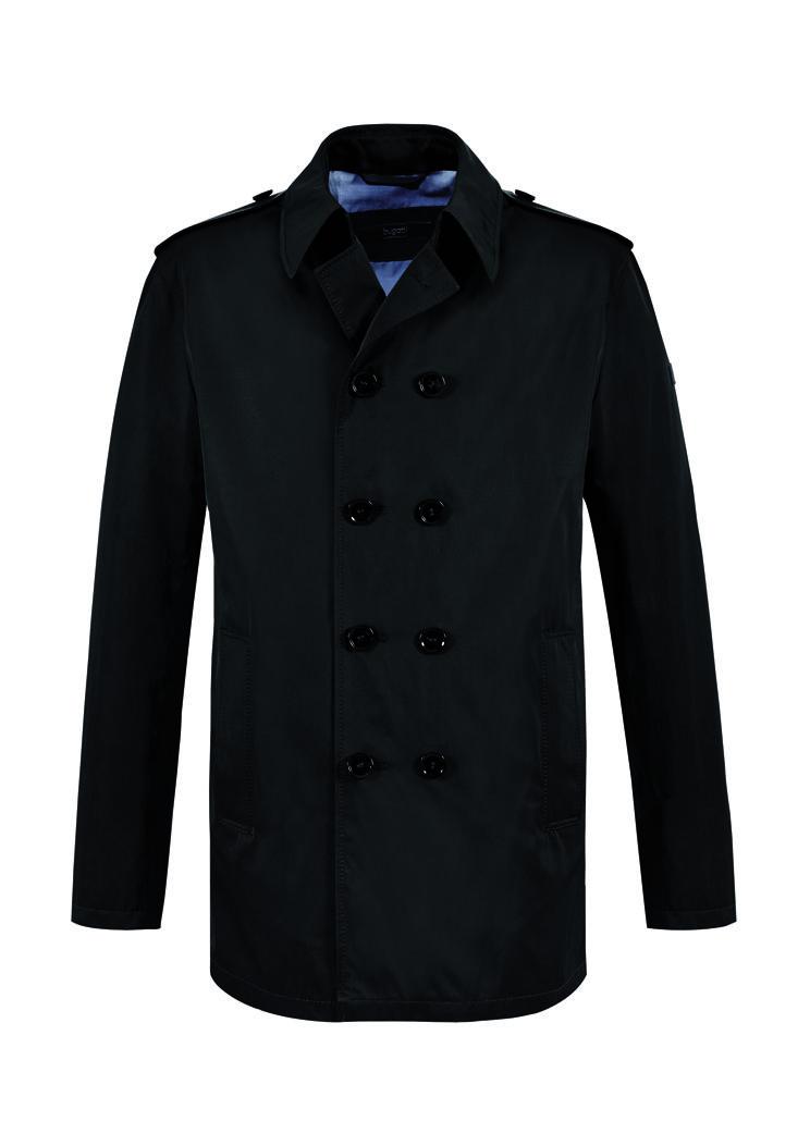 #FridaysFavourite | Short coat with classic double button row! #bugattifashion #ss15 #menswear #coat #summerlook #black #tgif