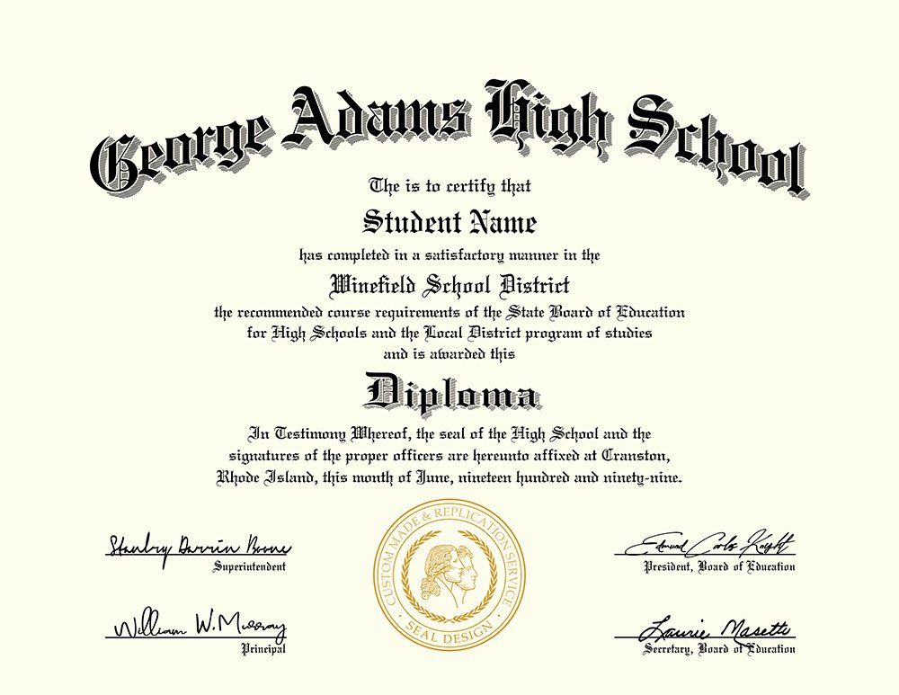 Free High School Diploma Templates Best Of 30 Real & Fake
