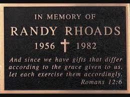TRIBUTE TO RANDY RHOADS