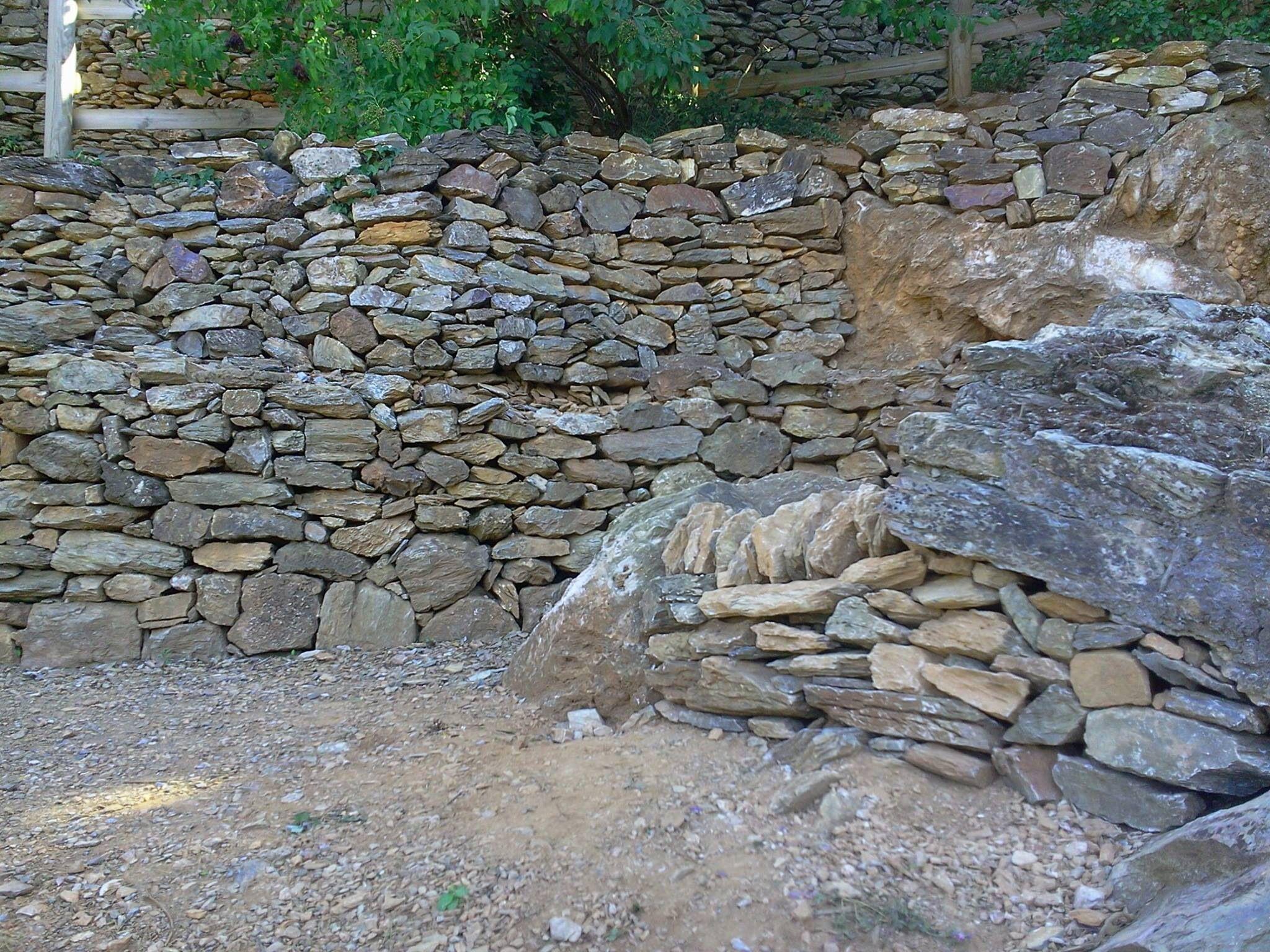 schiste murs de pierres s ches pinterest schiste mur de pierre et mur. Black Bedroom Furniture Sets. Home Design Ideas