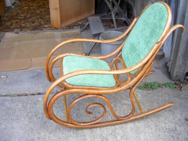 Restored 1930s Cane Rocking Chair