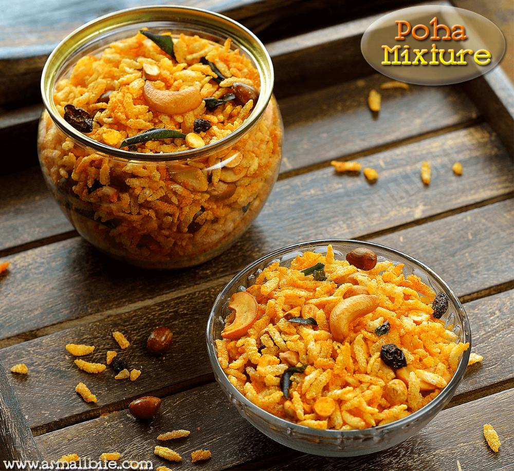 Poha Mixture Recipe Mixture Recipe Recipes Diwali Food