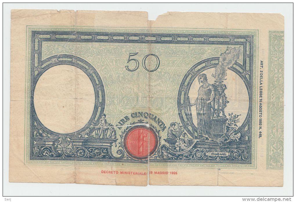 Italy 50 Lire 1928