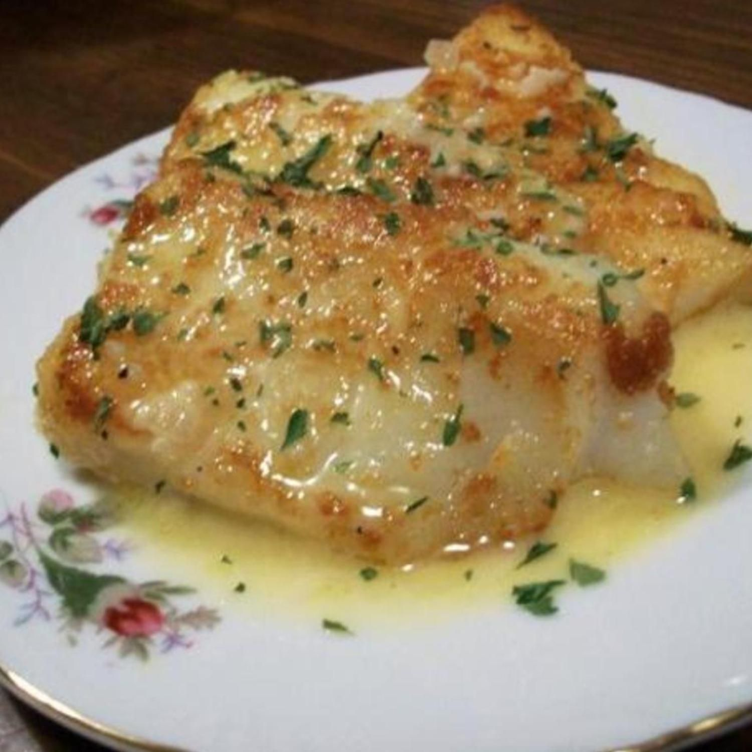 Pan fried fish with a rich lemon butter sauce recipe for Fish marinade recipes