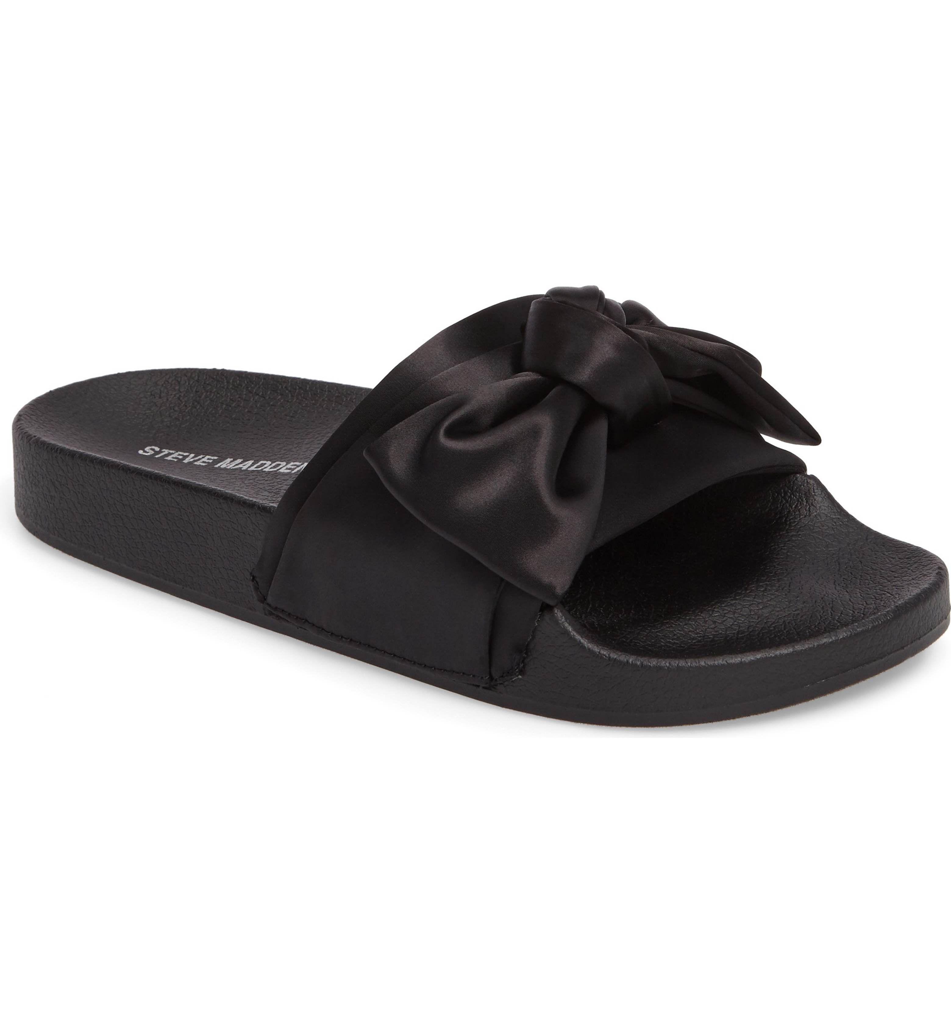zapatos de otoño moda de lujo cupón doble Steve Madden Silky Slide Sandal (Women   Slide sandals, Sandals ...