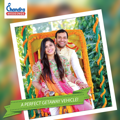 Afterall your ideal getaway vehicle needs to match your wedding style! #ChandraWeddings #RoyalWeddings #GetawayVehicle