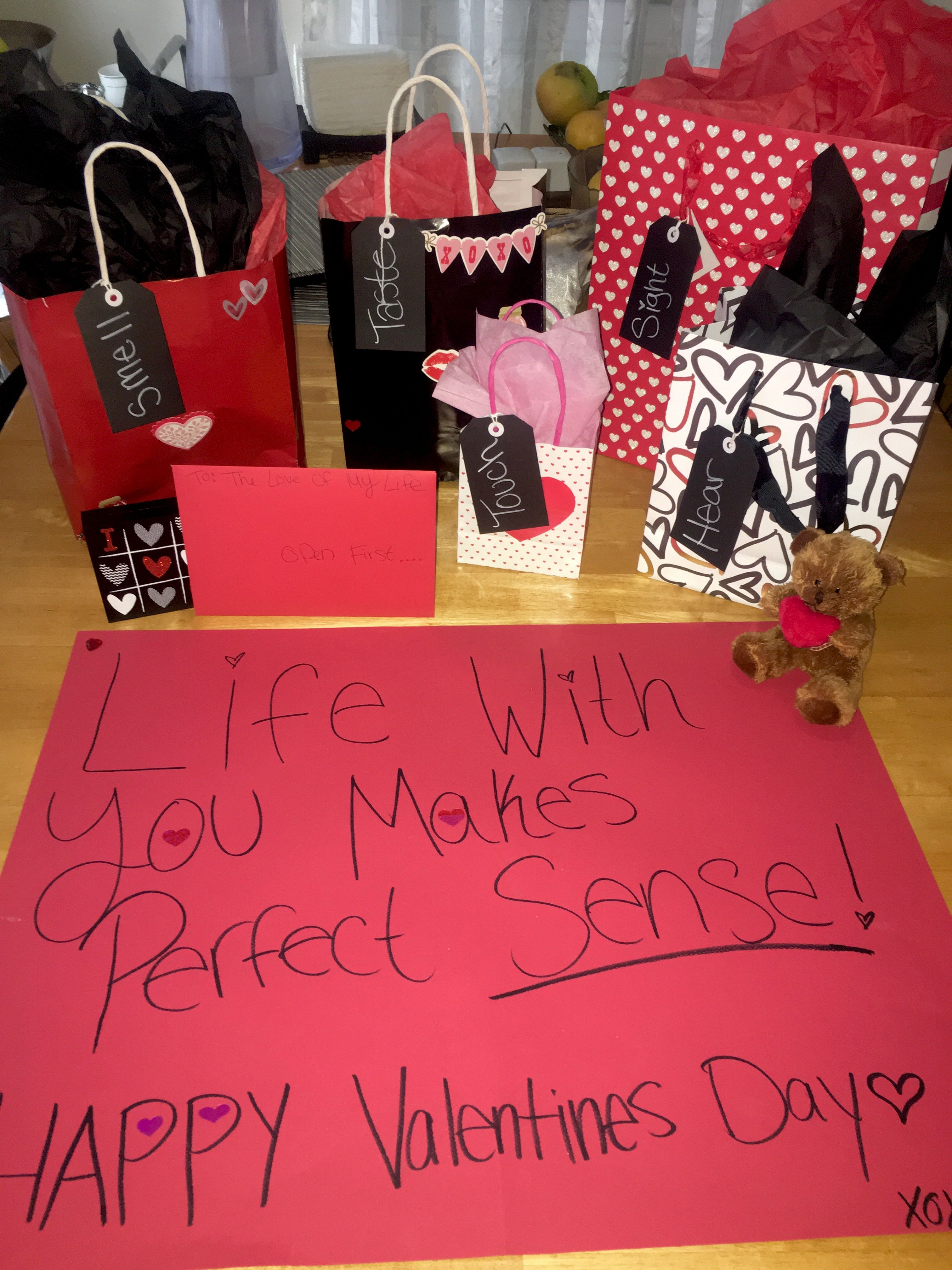 5 Senses Gift For Him Happy Valentine S Day Babe Crafty