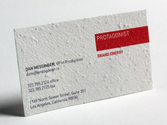 Seed Paper Business Card Jpg Cool Business Cards Seed Paper Cards