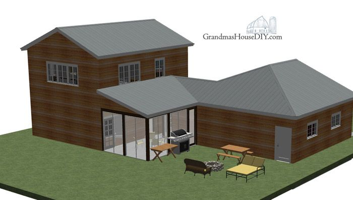 Free House Plan Modern country home – House Plans With Breezeway Between House And Garage