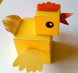 Printable Cube Chicken