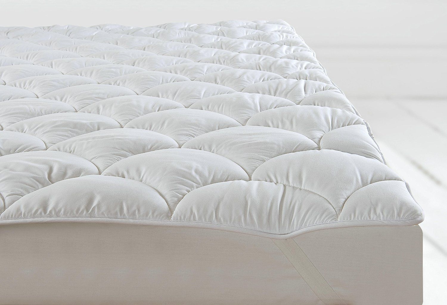 single bed anti allergy quilted mattress topper protector