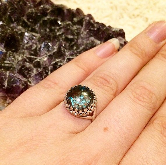 Calypso Ring // Chrysocolla Sterling Silver by KristynReneeJewelry