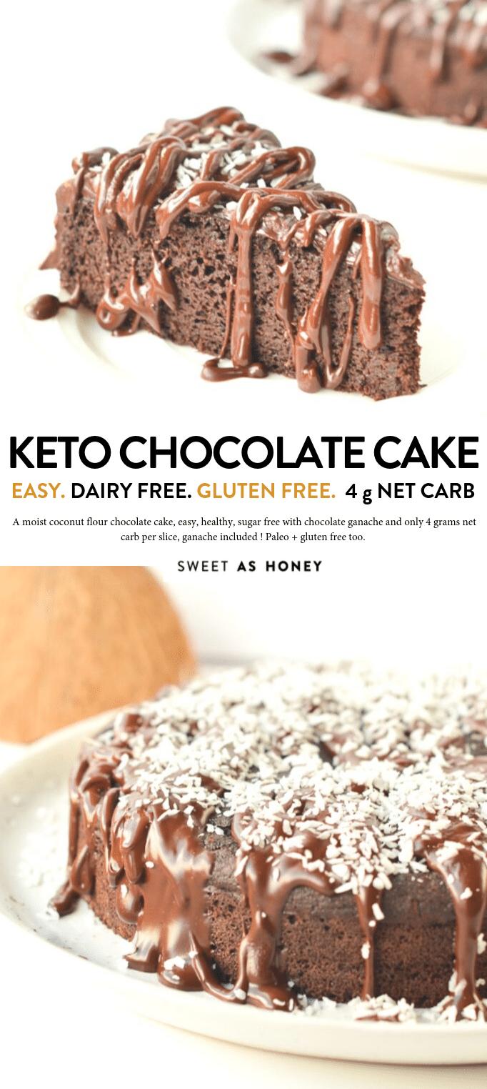 Coconut flour chocolate cake - keto + paleo - Sweetashoney
