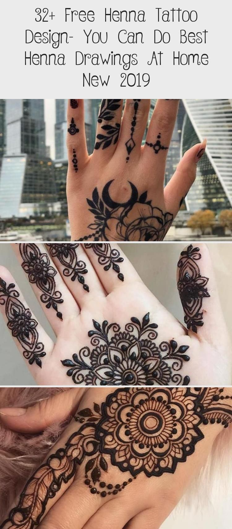 32 Free Henna Tattoo Design You Can Do Best Henna Drawings At Home New 2019 Tattoos And Body Art In 2020 Henna Tattoo Designs Henna Drawings Henna Tattoo