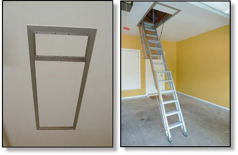 Fully Electronically Controlled Ladder With Images Loft Spaces Attic Storage Attic Stairs