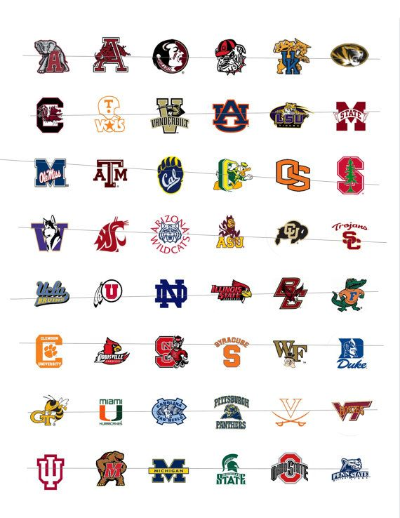 photo relating to Printable College Logos titled Printable NCAA Emblems 62 groups A person Inch Circles as a result of ImageThis
