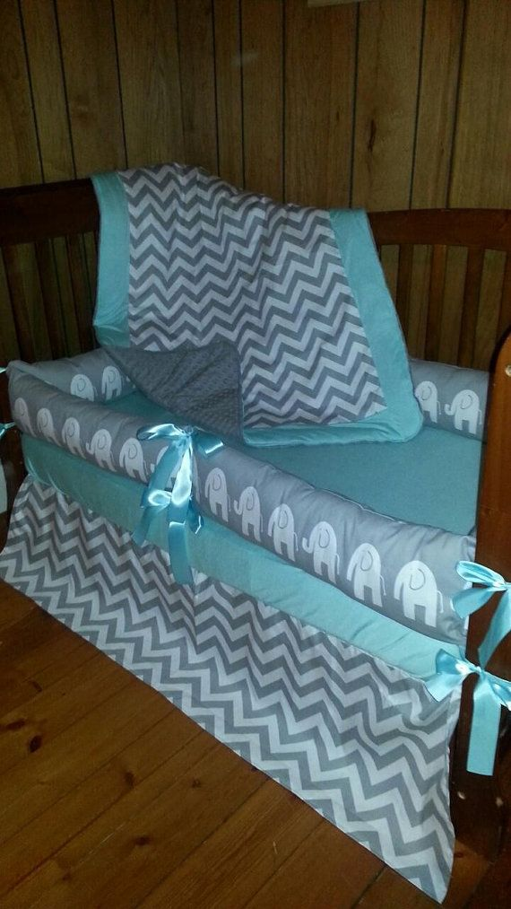 Gray and White chevron/elephant with solid by ConvertibleCoveralls, $179.00